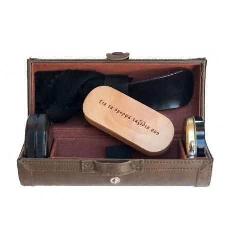 Σετ γυαλιστικά ταξιδίου για παπούτσια