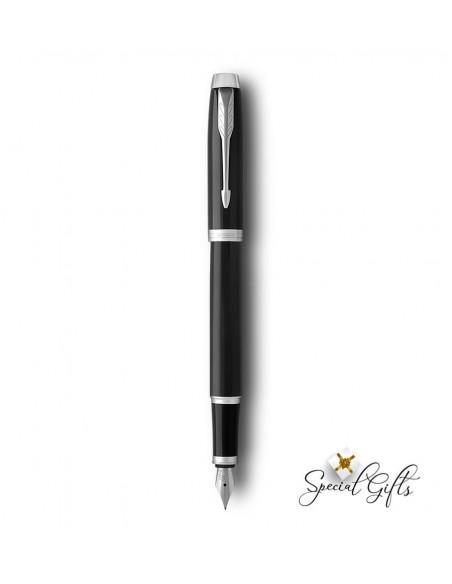 Πένα γραφής Black Lacquer CT με χάραξη