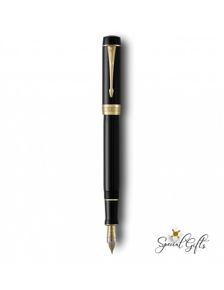 Fountain Pen Parker Black Gt Centennial