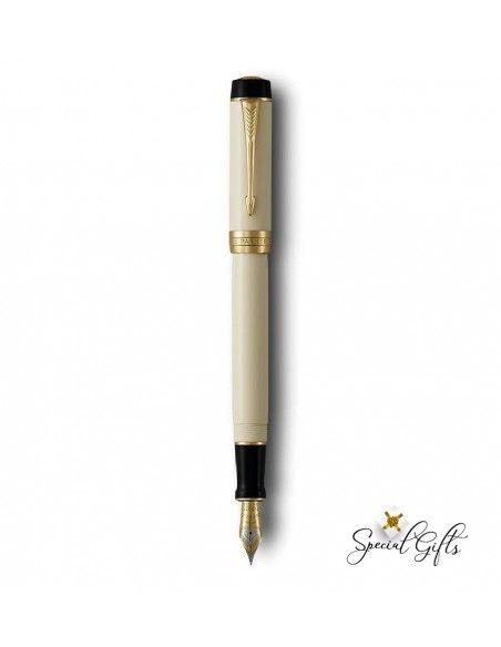 Fountain Pen Parker Ivory & Black GT Centennial