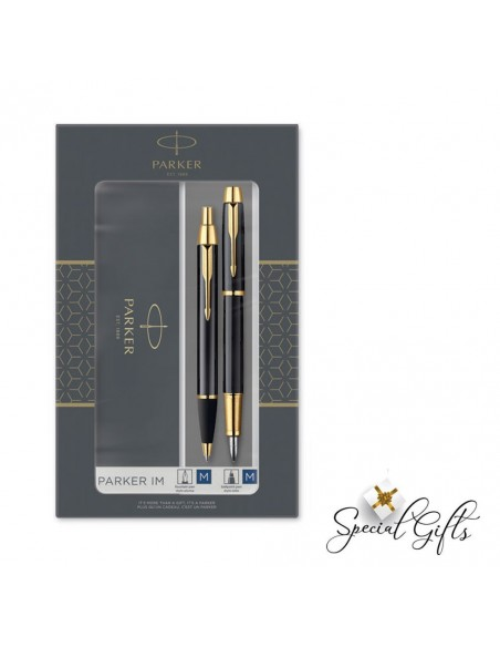 Set Parker FPen-BPen IM Duo Laque Black GT