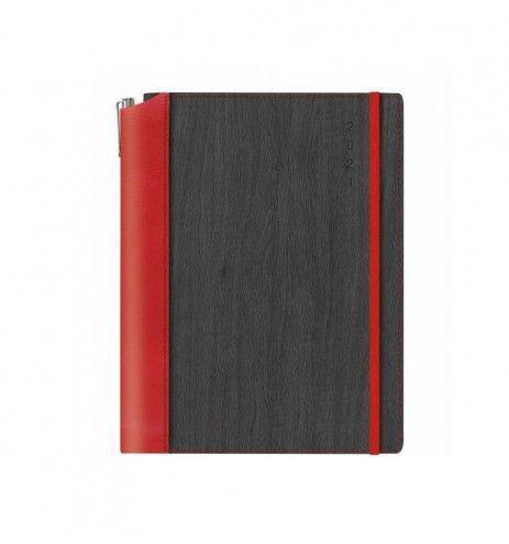 Ημερήσιο ημερολόγιο κόκκινο-μαύρο
