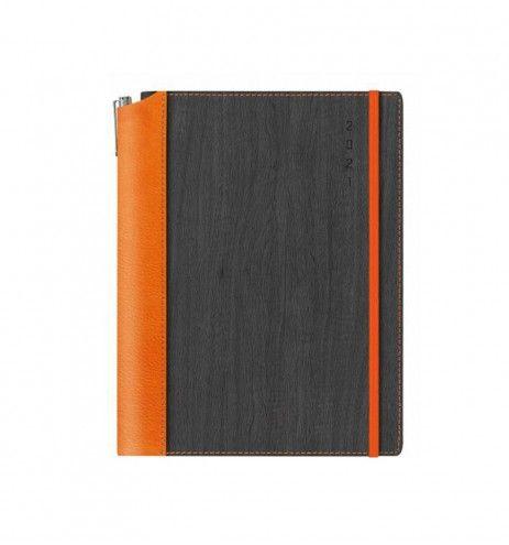 Ημερήσιο ημερολόγιο πορτοκαλί-μαύρο