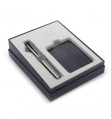 Σετ Πένα Parker IM Monochrome Achromatic Gray (FP) και καρτοθήκη