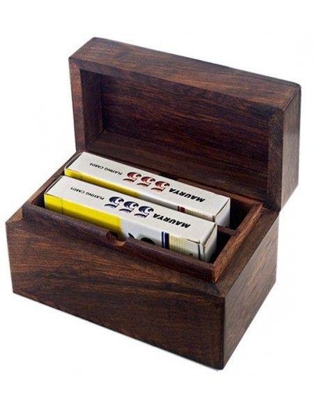 Κουτί ξύλινο με δύο τράπουλες