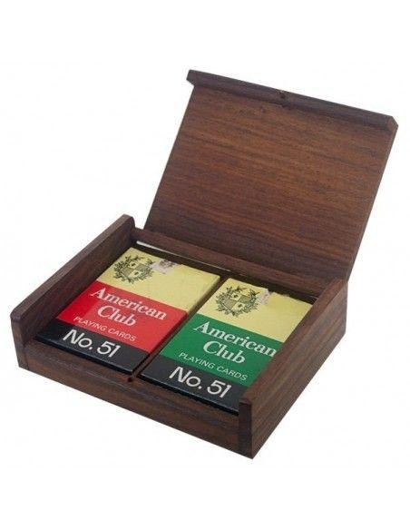 Τράπουλες σετ σε ξύλινο κουτί