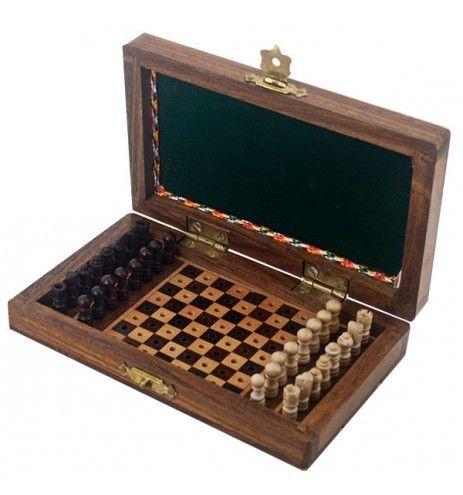 Σκάκι ταξιδίου ξύλινο